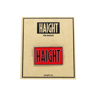 HAIGHT / Box Logo Pin Badge - Red