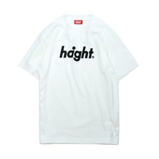 HAIGHT / Round Logo S/S T-Shirt - White
