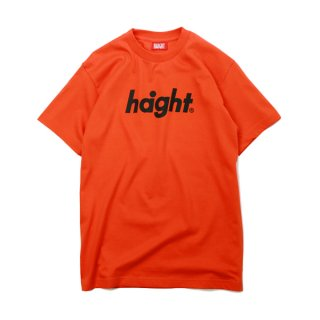 HAIGHT / Round Logo T-Shirt ORANGE