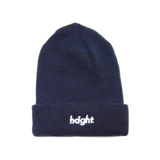 HAIGHT Round Logo Knit Cap Navy