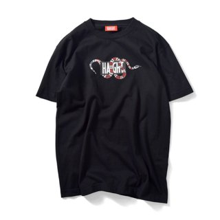 HAIGHT × PRIVILEGE - SNAKE BOX LOGO T-SHIRT Black