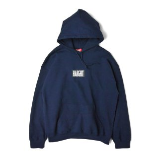HAIGHT / Box Logo Warm Hoodie - Navy