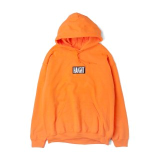 HAIGHT / Box Logo Warm Hoodie - Orange