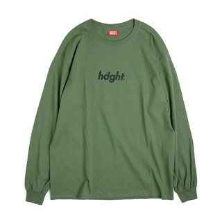 HAIGHT / Round Logo L/S Tee 18 - Olive