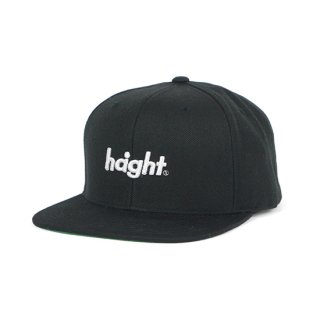 HAIGHT / Round Logo Snap Back Cap - Black