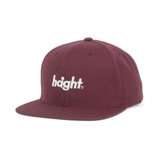 HAIGHT / Round Logo Snap Back Cap - Burgundy