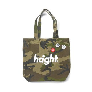HAIGHT / Round Logo Canvas Tote Bag - Woodland Camo