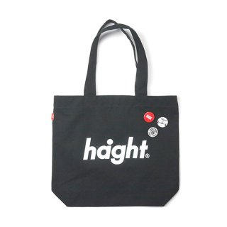 HAIGHT / Round Logo Canvas Tote Bag - Black