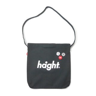HAIGHT / Round Logo Canvas Shoulder Bag - Black