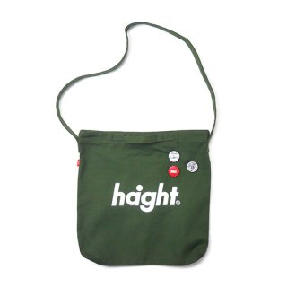 HAIGHT / Round Logo Canvas Shoulder Bag - Olive