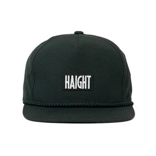 HAIGHT / Box Logo Rope Snapback Cap - Black