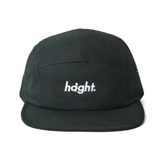 HAIGHT / Round Logo Camp Cap - Black