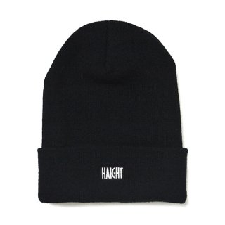 HAIGHT / Box Logo Knit Cap - Black