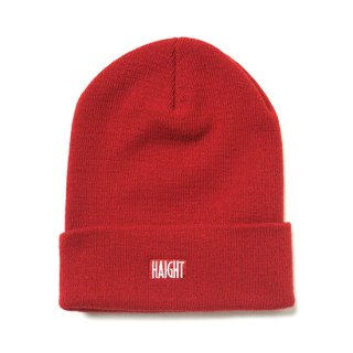 HAIGHT / Box Logo Knit Cap - Red