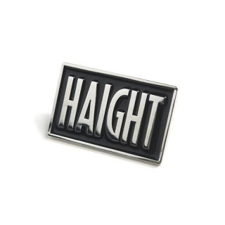 HAIGHT / Box Logo Pin Badge - Black