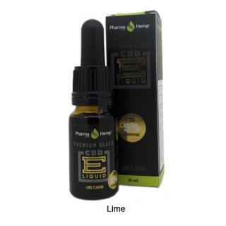 Pharma Hemp / CBD Premium Black E-Liquid ライム 10ml / 5%