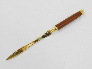 ペーパーナイフ( 色 ゴールド 柄 ブビンガ)PV008
