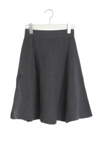 LIB KNIT SKIRT/m.gray