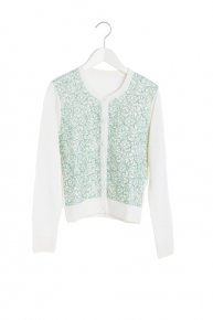 SOPHIE HALLETTE LACE CARDIGAN/green