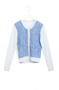 SOPHIE HALLETTE LACE CARDIGAN/blue