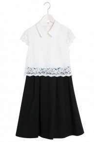 COLLAR LACE DRESS II/white