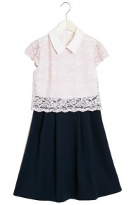 COLLAR LACE DRESS II/pink