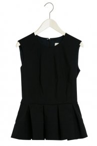 PEPLUM TOPS/black