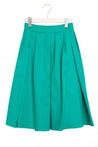 TUCK FLARE SKIRT/green