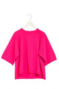 BASIC ZIP KNIT/pink