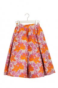 FLOWER TUCK FLARE SKIRT