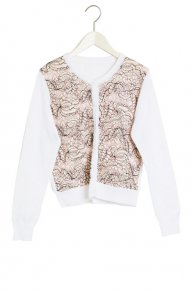 SOPHIE HALLETTE LACE CARDIGAN 17ss/white