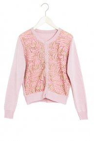 SOPHIE HALLETTE LACE CARDIGAN 17ss/pink