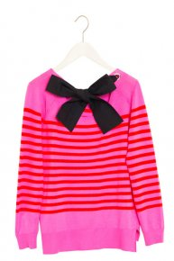 BORDER RIBBON KNIT/pink