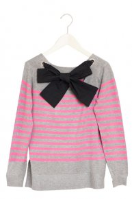【2/28 21:00再入荷】BORDER RIBBON KNIT/gray