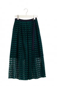 LACE DESIGN SKIRT/green