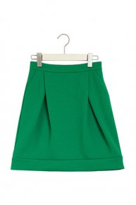 定価より30%OFF::TUCK COCOON SKIRT/green