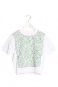 SOPHIE HALLETTE LACE KNIT17ss II/green
