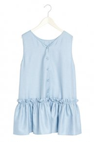 VOLUME FRILL TOPS/blue