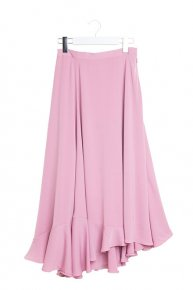 ASYMMETRY MAXI SKIRT/pink
