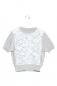sale: SOPHIE HALLETTE LACE KNIT17ss III/l.gray × white <img class='new_mark_img2' src='//img.shop-pro.jp/img/new/icons16.gif' style='border:none;display:inline;margin:0px;padding:0px;width:auto;' />