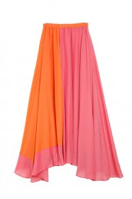 BI-COLOR DRESS/pink x orange