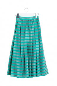 BORDER PRINT SKIRT/green