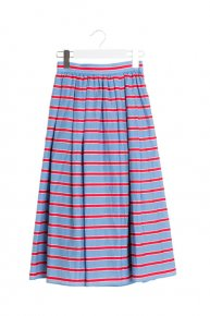 BORDER PRINT SKIRT/blue