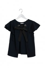 FRILL x RIBBON TOPS/navy