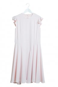 FRILL FLARE DRESS/pink