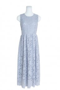 SOPHIE HALLETTE LACE DRESS/gray