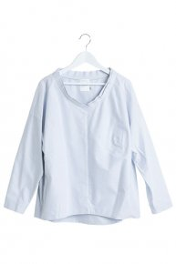 PEARL BASIC SHIRT/bluegray