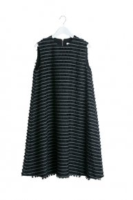BOARDER FRINGE DRESS/black