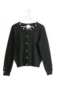 PEARL KNIT CARDIGAN/black