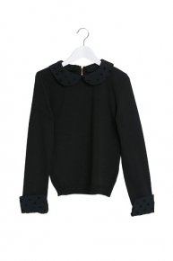 DOT COLLAR KNIT/black